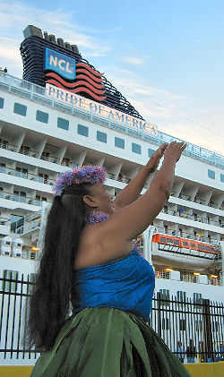 NCL's Pride of America and Hula Dancer